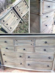 Custom Distressed Gray Bedroom Set General Finishes