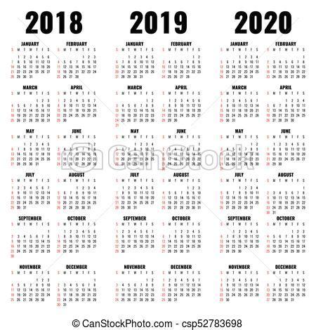 anos vetorial modelo calendario modelo mensal