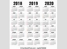 Jahre, vektor, 2020, schablone, 2019, kalender, 2018