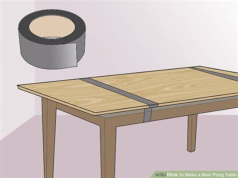 how to make a beer pong table 3 ways to make a beer pong table wikihow
