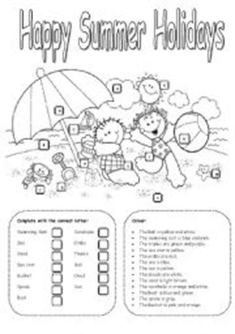 Summer Holidays Worksheets