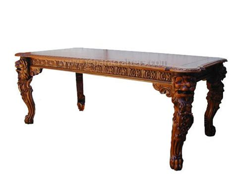Teak Wood Bookcase by Mahogany Lion King Dining Table