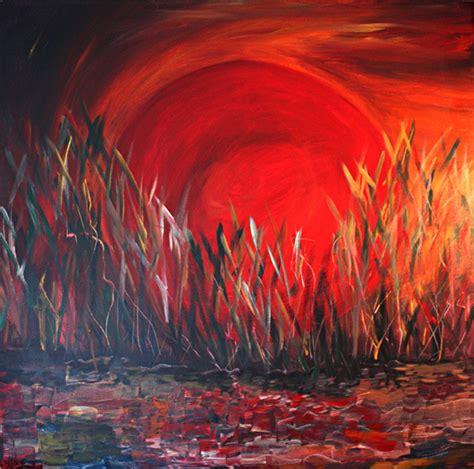 acryl auf leinwand abstrakt gemaelde sonnensturm acryl leinwand 100x100