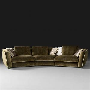 Curve sofas italian curved sofa at 1stdibs custom for Curved sectional sofa amazon