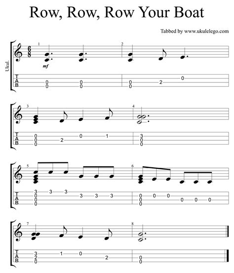 Attractive Row Row Row Your Boat Chords Piano Vignette - Beginner ...