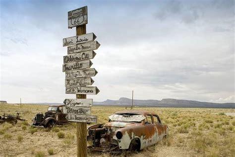 Cowgill S Route 66 Sign Near Truxton Historic Route 66 Truxton Route 66 Arizona