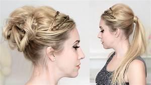 Chignon Cheveux Mi Long : tuto coiffure de f tes r veillon jour de l 39 an chignon ~ Melissatoandfro.com Idées de Décoration