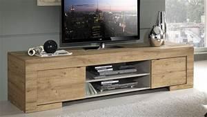 Tele 190 Cm : meuble tv design bois 190 cm 2 portes et 2 niches karel gdegdesign ~ Teatrodelosmanantiales.com Idées de Décoration