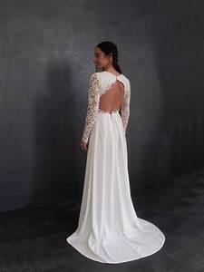 robe de mariee sur mesure pour andrea en crepe de soie With robe en crepe de soie