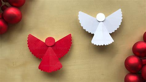 basteln weihnachten engel basteln mit papier weihnachtsdeko selber machen