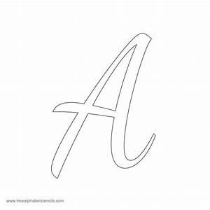 read article 1950s casual cursive alphabet stencils art With stencil alphabet letters