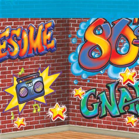 80's Graffiti Backdrop & Backgrounds  80s Party