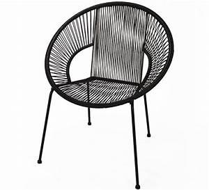 Fauteuil Acapulco Casa : chaise de jardin ipanema fil noir 95 salon d 39 t ~ Teatrodelosmanantiales.com Idées de Décoration