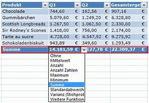 Excel Tabelle Summe Berechnen : bersicht zu excel tabellen excel ~ Themetempest.com Abrechnung