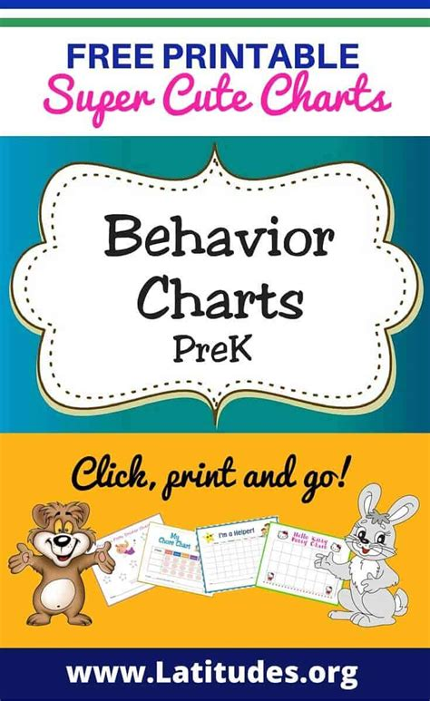 printable behavior charts  teachers students pre  acn latitudes