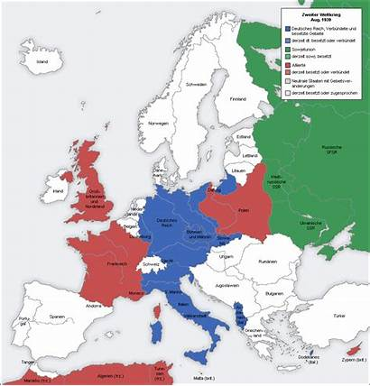 Allies Map Axis War German Showing Animated