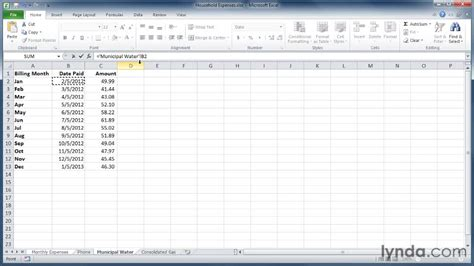 referencing worksheets in excel 2010 referencing cells in another worksheet learning excel 2010