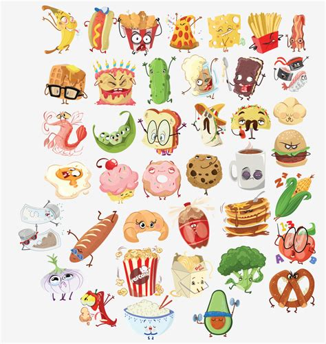 stickers ecriture cuisine candice ciesla character designer concept artist