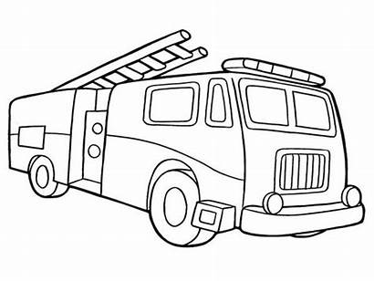 Coloring Fire Truck Pages Firetruck Printable Simple