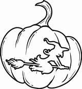 Pumpkin Coloring Printable Halloween Witch Pages Sheets Sheet Scary Fall Outline Carving Easy Supplyme sketch template