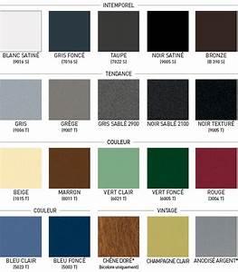Les couleurs: fenetre alu noir, porte fenetre, baie vitee, menuiserie alu K•Line