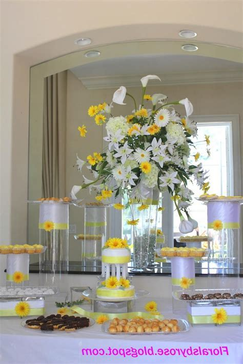 Buffet table decorations photos