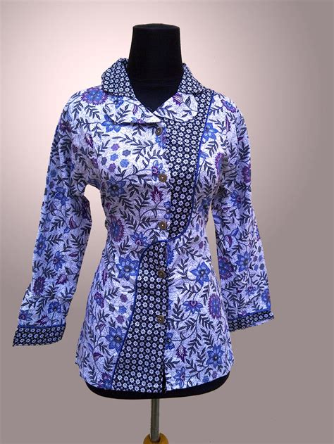 model baju batik kerja terkini ragam fashion