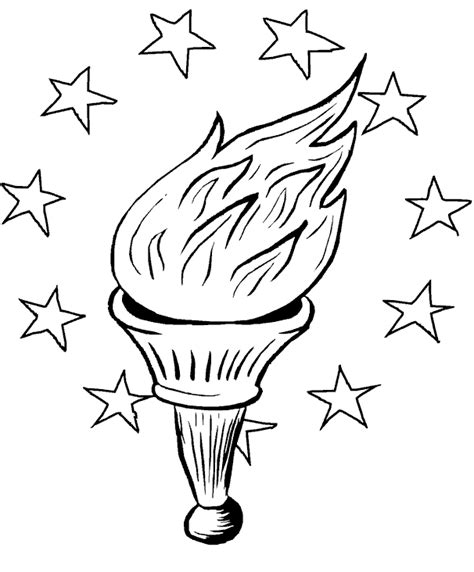 statue  liberty coloring pages torch coloringstar