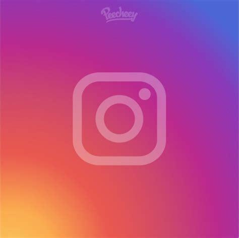 Instagram Logo On Instagram Gradient Background