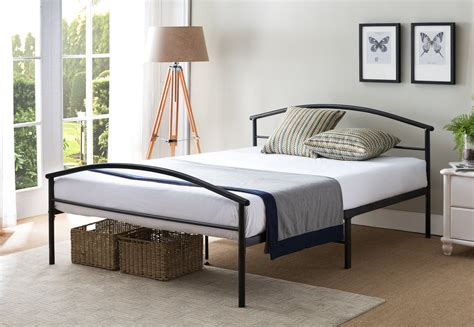 Twin Or Full Size Black Traditional Metal Platform Bed