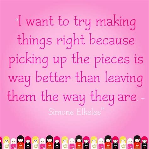 Picking Up Pieces Quotes