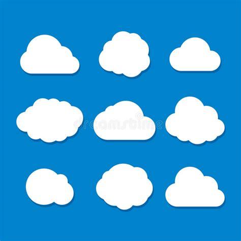Grupo Da Nuvem Do Estilo Dos Desenhos Animados Vetor