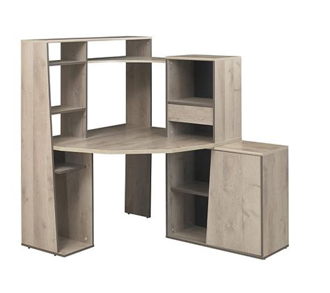 bureau mambo bureau d 39 angle et surmeuble mambo chêne bureaux but