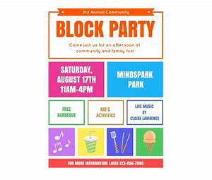 download this block party flyer template and other free With block party template flyers free
