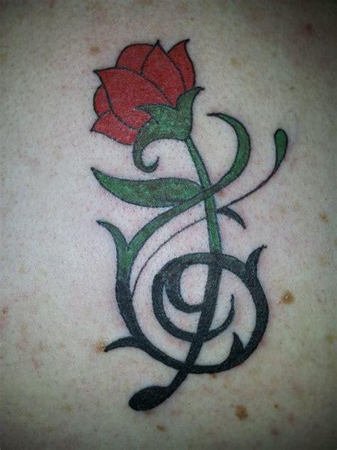 beautiful tribal rose tattoos