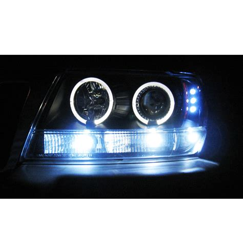 99 04 jeep grand dual halo led projector