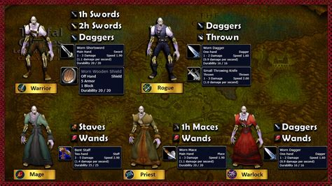 wow classic progression weapon quests undead tg