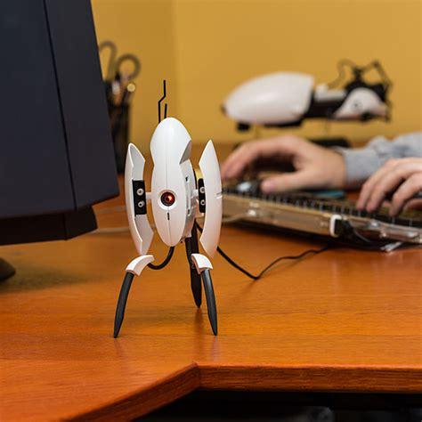 desk toys for geeks portal 2 sentry turret usb desk defender thinkgeek