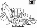 Backhoe Coloring Pages Construction Caterpillar Cat Drawing Hoe Loader Printable Machinery Sketch Printables Vehicles Lego Activities Popular sketch template