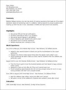 cafeteria worker resume exle professional cafeteria worker templates to showcase your talent myperfectresume