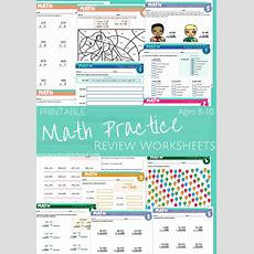 Math Practice 15 Pages Ages 810 With Addition, Subtraction, Multiplication,rounding,estimating