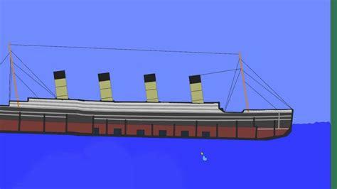 titanic physics mit algodoo updated titanic modell