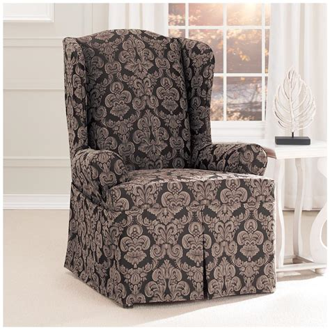Slipcovers Canada by Sure Fit 174 Middleton Wing Chair Slipcover 581238
