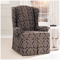 chair slip cover Sure Fit® Middleton Wing Chair Slipcover - 581238, Furniture Covers at Sportsman's Guide