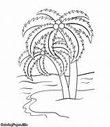 Palm Coloring Tree Pages Trees Flowers Coloringpages Site Leaf Fancy Tutorial Posters sketch template
