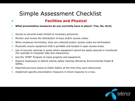 annual physical checklist