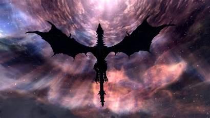 Dragon Shadow Wallpapers Dragons Alduin Skyrim Final