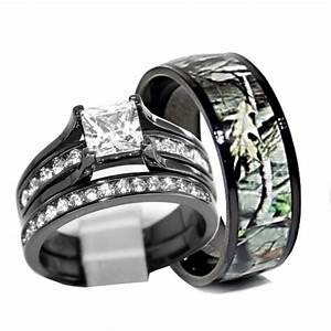 Camo wedding ring set his and hers sang maestro for Camo wedding ring sets his and hers