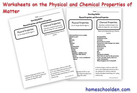 physical properties of matter chemical properties of matter 45 page packet middle school