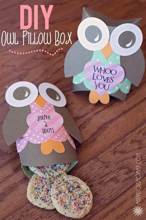 diy owl pillow boxes  valentine printable
